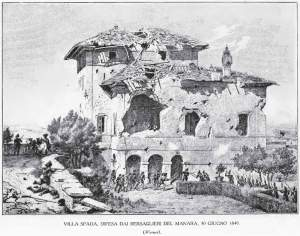 30 June, Villa Spada about to be lost to Manara's men.