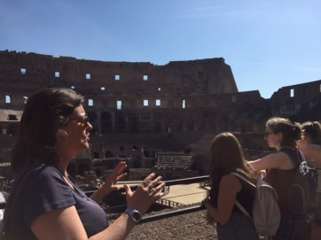 Day 2, Agnes explaining the site.